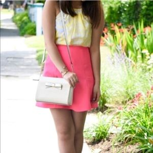 J. Crew Pink Flare Skirt